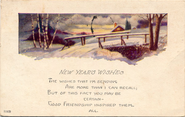 1925 new years card sent to one of my my aunts in conway springs
